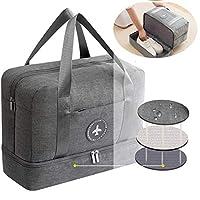 Pawaca Waterproof Gym Bag, Duffel Waterproof Fitness Sports Bag,Training Handbag Dry Wet Separated Gym Bag Dry Wet Depart Mesh Tote Bag for Men Women