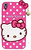 ANVIKA Girls Choice Hello Kitty Soft Silicon with Pendant Back Cover for HTC Desire 826 - Pink