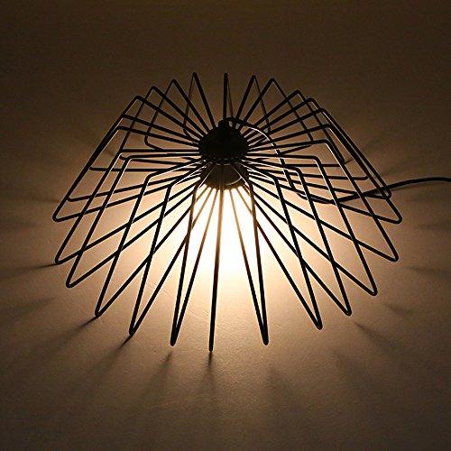 Crayom Nordic Iron Vogelkäfig Spinne Form Kronleuchter Einfache Eisen Lampe Abdeckung Tischlampe Wohnzimmer Lichter Schlafzimmer Restaurant Lichter Dual Use Lighting Vorrichtungen ( Size : Table lamp )