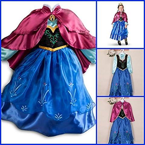Frozen Vestido Niñas Disfraz ANNA ELSA