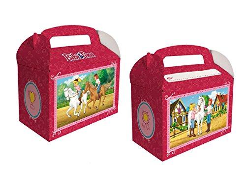 Preisvergleich Produktbild 6 Geschenkboxen * BIBI & TINA * für Kinderparty und Kindergeburtstag von DH-Konzept // Blocksberg Party Set