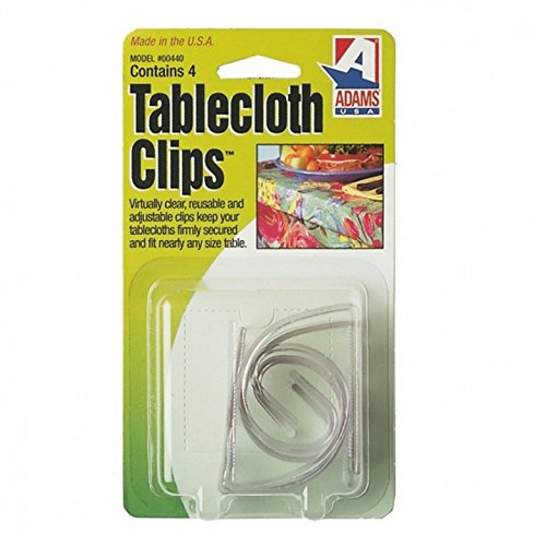 Adams Tablecloth Clips - 4 Pack Test