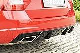 Rieger Heckeinsatz schwarz glänzend für Skoda Octavia RS (5E) Diesel: 06.13-01.17 (bis Facelift), 02.17- (ab Facelift) mit Anhängerkupplung