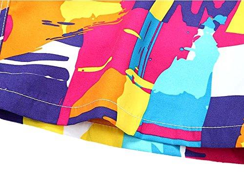 Scothen Herren Slim Fit Freizeit Shorts Casual Mode Urlaub Strand-Shorts Sommer Schnell Trockend Badeshorts Beachshorts Badehose Strand Männer Streifen Kurze Hose Surfshorts Badehose Boardshorts 1