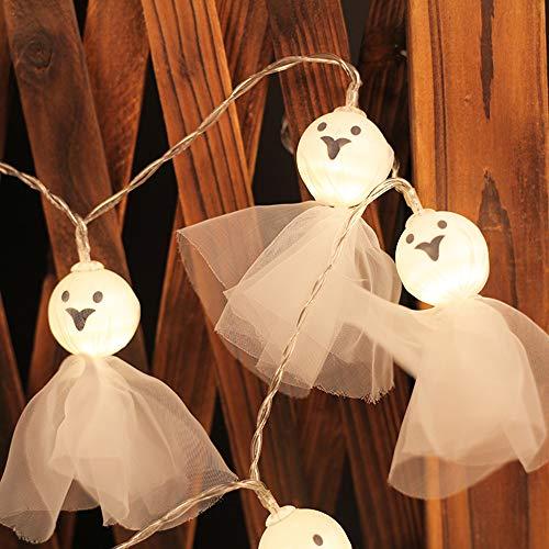 rkette Innen,Schädel Lichterkette Halloween Dekorationen Die Geisterpuppe Ghost LED String Lights Horror Home Decor (Warmweiß) ()