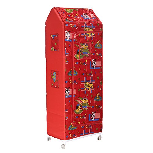 Archana Novelty Nhr Baby Folding Wardrobe ( 6 Shelf) Red
