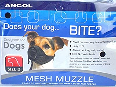 Anc-ol Soft Mesh Dog Muzzle Comfortable Breathable Nylon Strong Reliable Mesh Muzzle (2) by Anc-ol