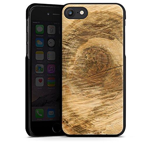 Apple iPhone X Silikon Hülle Case Schutzhülle Baumstamm Holz Look Baum Hard Case schwarz