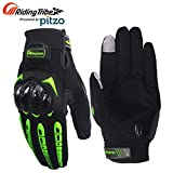 #6: Pitzo Probiker Tribe Full Finger Riding Gloves (Green, XL)