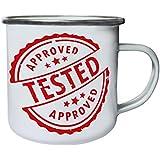 Nuevo Sello Aprobado Aprobado Retro, lata, taza del esmalte 10oz/280ml m270e