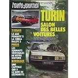 AUTO JOURNAL (L') [No 8] du 01/05/1978 - TURIN - SALON DES BELLES VOITURES - PEUGEOT TI - SIMCA RALLYE 3 - PNEUS - BORDEAUX.
