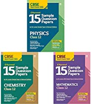 15 Sample Papers Combo for CBSE Class 12 Physics, Chemistry & Mathematics 2021 Exam with reduced Syllabus