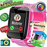 Kids Smartwatch Phone, Amenon Smart Watch para Niños Niños Chicas Vacaciones Regalos de cumpleaños SOS Tracker Fitness Tracker con Llamada Reloj Despertador Cámara de Juego Reloj de Pulsera
