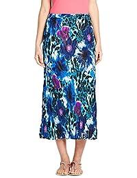 Ladies Savoir Reversible Elasticated Waist Crinkled Chiffon Skirt. RRP: £35. Size 12