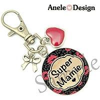 Porte clésღ Bijou de sac Cadeau Super Mamie bisous
