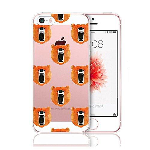 Qissy®TPU Case für iPhone 5 5S SE -Silikon-Hülle Soft Shell-Fall-Schutz Anti Shock Silikon Anti-Staub-beständig Tierischer Elefant (iPhone 5 5S SE, 5) 13