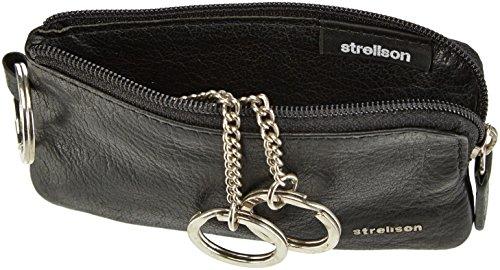 Strellson Jefferson KeyHolder Z3 4010001478 Herren Schlüsselmäppchen 11x7x1 cm (B x H x T) Schwarz (Black 900)