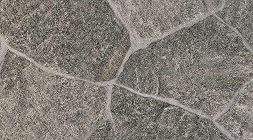 Gerflor TEXLINE® PVC Vinyl Bodenbelag - 0618 Granite Green Linoleum Rolle Fußbodenbelag Vinylbahnen Steindekor, Fliesenoptik - Breite 4m