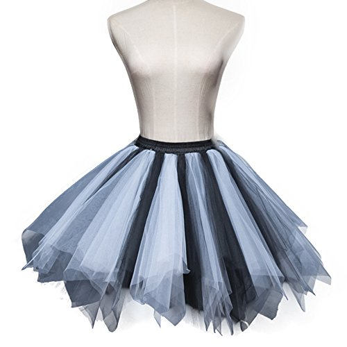 Kostüm Zigeuner Plus Größe - ONECHANCE Frau Layer Tüll Tutu 50er Jahrgang Petticoat Ballett Bubble Party Rock Farbe Mix 4 Size Plus