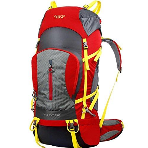 80L Professionelle Outdoor-Klettern Rucksack-Schulter-Wandern Wasserdicht Männer und Frauen Reise-Camping Bergsteigen Tasche Red