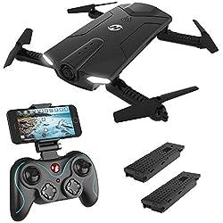 Holy Stone HS160 Drone FPV con cámara HD Wi-Fi de 720P Transmisión de Video en Vivo 2.4GHz Gyro Quadcopter de 6 Ejes para niños y Principiantes Control de altitud One Key Start Brazos Plegables