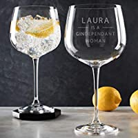 Funny Personalised Gin Glass for women/Gindependant Gin Goblet Gift/Birthday gift for her