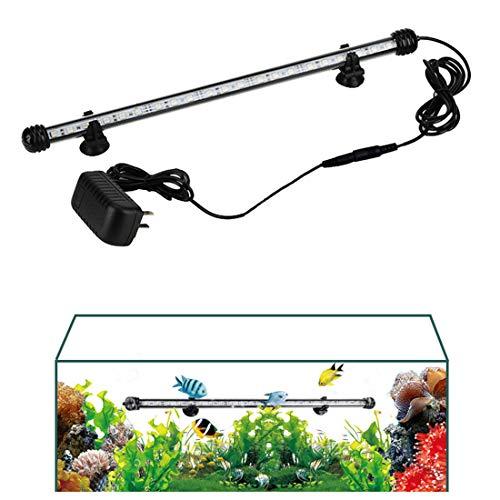 Acquario Luci 5050 LED Fish Tank Light per Acquario di Acqua Dolce e salata, Pure Color, 115-145cm / 45-57in,White,125cm/49in