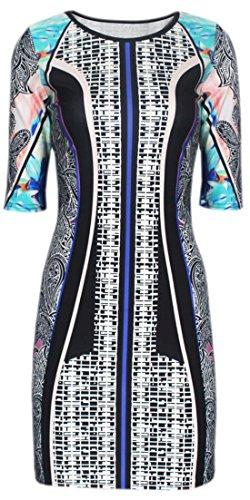 erdbeerloft - Damen Longtop Shirt Jungle Paisley Print, L, Mehrfarbig