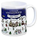 Meißen Sachsen Weihnachten Kaffeebecher mit winterlichen Weihnachtsgrüßen - Tasse, Weihnachtsmarkt, Weihnachten, Rentier, Geschenkidee, Geschenk