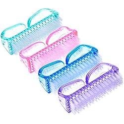eBoot Cepillo Limpieza de Uñas de Plástico del Clavo, 4 Piezas