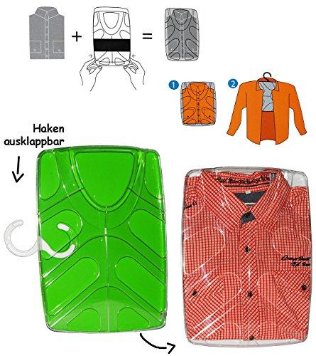 Preisvergleich Produktbild Unbekannt Hemdenbox - grün - aus Kunststoff - kein Hemden knittern mehr - Reisebox - Gepäck - Reisen / Geschäftsreise - Tasche - Box Kiste incl. Kleiderbügel - Hemd..
