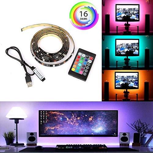 Sisaki LED TV Hintergrundbeleuchtung 1M/2M USB LED Beleuchtung Hintergrundbeleuchtung Fernseher USB für 40 bis 60 Zoll HDTV Bildschirm und PC-Monitor 1 Hdtv Display