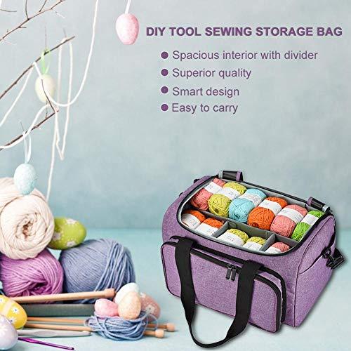 Knitting Bag Garn Lagerung Tote Organizer Tote für Weave Tools häkeln Zubehör ()