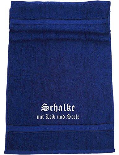 Schalke - mit Leib und Seele; Familie Badetuch, dunkelblau