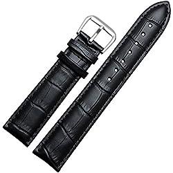 Correa de reloj de cuero auténtico, 22mm de ancho
