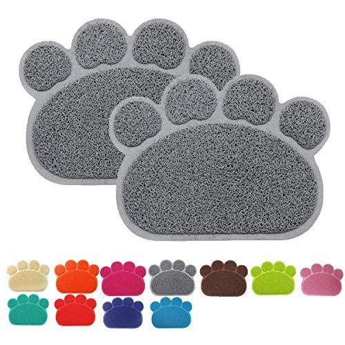 Cloud Heart Premium Cibo per Animali Domestici, Tappetino in PVC a Forma di Zampa Bowl Feeding Coperta tovaglietta per Gatti e Cani, 40x 30cm,2Pezzi