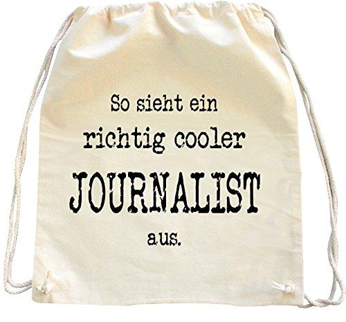 Mister Merchandise Turnbeutel natur Rucksack Journalist , Farbe: Natur