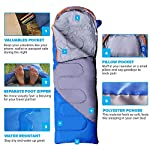 Mountaineers Outdoor Sleeping Bag, 4 Season, XL Pillow Pocket & Water Resistant Outer Shell - Including Foot Zipper… 10
