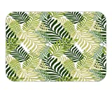 Trsdshorts Doormat LeaveDecor Tropical Exotic Palm Tree LeaveNatural Botanical Spring Summer Contemporary Graphic for Bedroom Living Room Dorm Green and Ecru.jpg