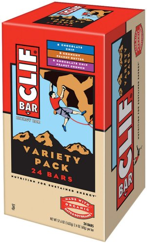Clif Bar Energy Bar, Variety Pack of Chocolate Chip, Crunchy Peanut Butter, and Chocolate Chip Peanut Crunch, 2.4-Ounce Bars, Pack of 24 by Clif Bar (Food Peanut Bar Butter)