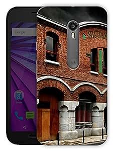 "Humor Gang Old Medieval Building Printed Designer Mobile Back Cover For ""Motorola Moto G3"" By Humor Gang (3D, Matte Finish, Premium Quality, Protective Snap On Slim Hard Phone Case, Multi Color)"
