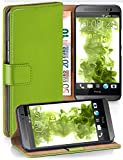 moex® Booklet mit Flip Funktion [360 Grad Voll-Schutz] für HTC One M8 | Geldfach & Kartenfach + Stand-Funktion & Magnet-Verschluss, Grün