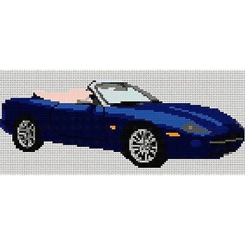 Jaguar XK8 Roadster Kit per punto croce blu
