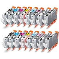 16 Pack,Cartucce d'inchiostro per Canon CLI-42 CLI42 Compatible Pixma Pro-100 stampanten(2 Nero,2 Ciano,2 Gray,2 Light Gray,2 Magenta,2 Giallo,2 Foto Ciano,2 Foto Magenta)