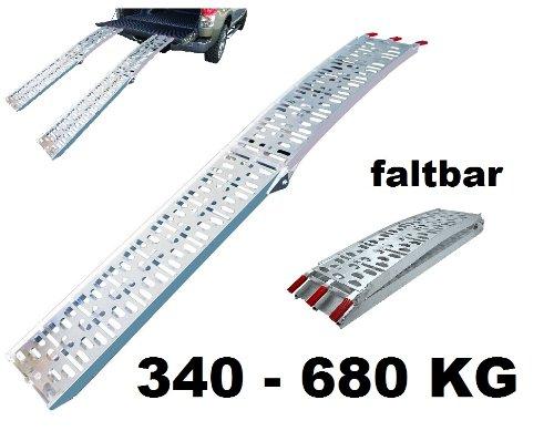 ALU Auffahrrampe Auffahrschiene Verladerampe Rampe klappbar 340-680 KG