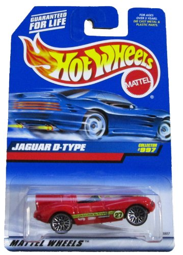 Mattel Hot Wheels 1999 1:64 Scale Red Jaguar D Type Die Cast Car Collector #997 by Hot Wheels