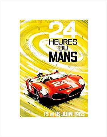 SPORT AD MOTOR RACE LE MANS 24 HOUR SPEED CAR CLASSIC FRAMED ART PRINT B12X7772