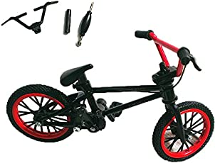 Makimama Kid's Mini BMX Bicycle Tech Finger Bike Gag Toy (Red and Black, LNG002-K)