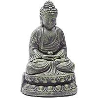 Buddha Figur Statue Buddafigur Feng Shui Buddhismus Thai Budda Grun Bronzeoptik