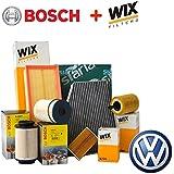Kit Hoja 4 Filtros Varios VW POLO 9N 1,4 TDI MNV de 2000 a 2005